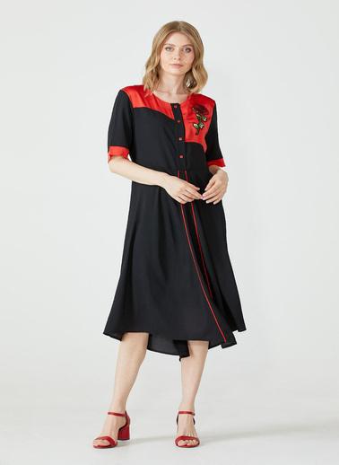 Sementa Büyük Beden Salaş Kadın Elbise - Siyah Siyah